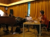 rehearsing with elisabeth deloore at LaBO 2011